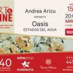 Andrea Arizu y su obra, a beneficio de Fundavita