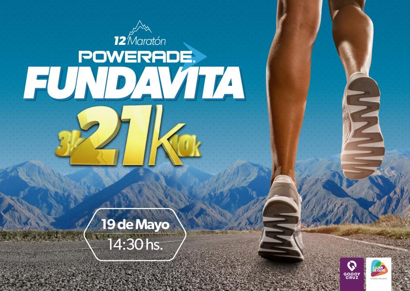 12a Maratón FUNDAVITA – 21K / 10K / 3K / Kids- 19 de mayo.