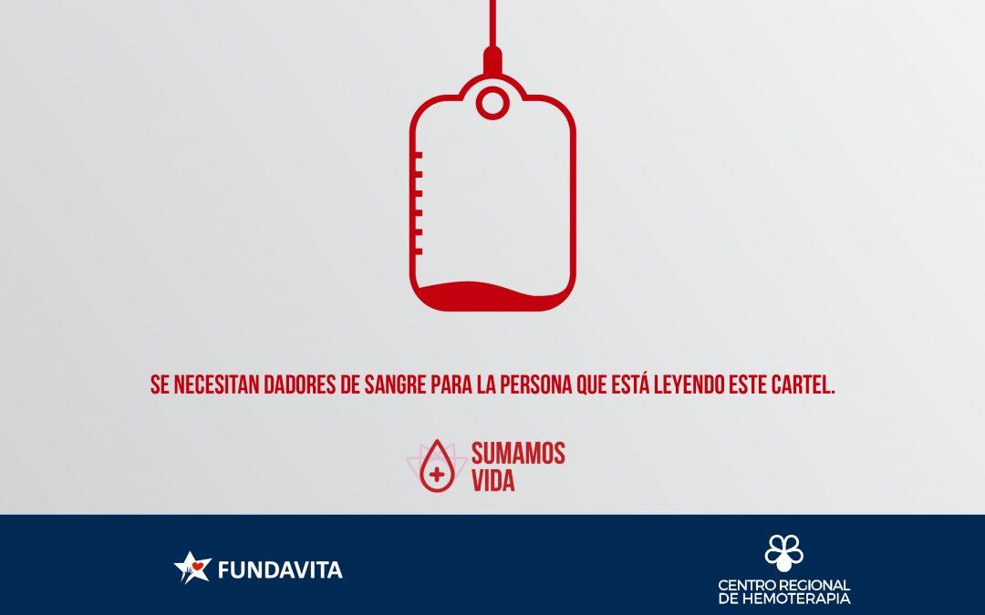 Donar también es para vos.